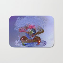 Mother Earth is Melting Bath Mat