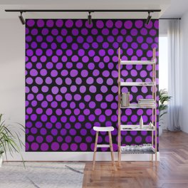 Violet Ombre Dots Wall Mural
