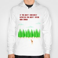 depression Hoodies featuring A Constant State of Depression by ThatLittleDemon