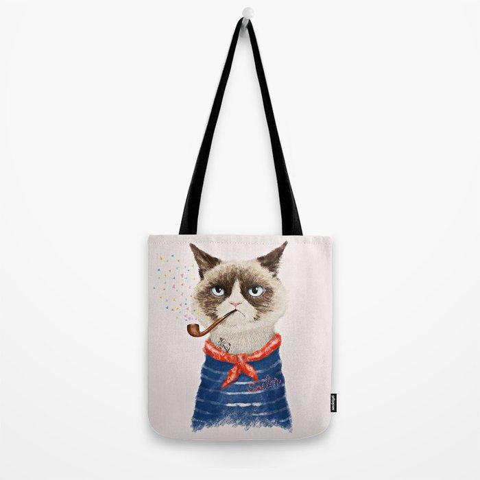Sailor Cat V Tote Bag