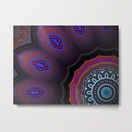Digital Flower Mandala Metal Print