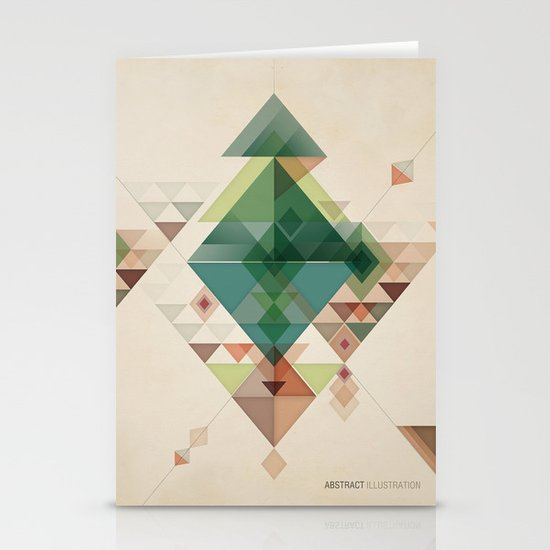 Abstract illustration Stationery Cards
