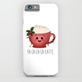 Fa-la-la-la-latte iPhone Case