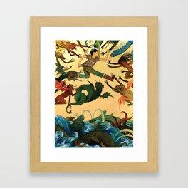 7 League Boots Framed Art Print