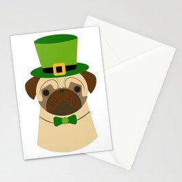 Kiss Me I'm Irish Saint Patrick's Day Pug Coffee Mug Stationery Cards