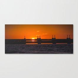 Oosterscheldekering Canvas Print