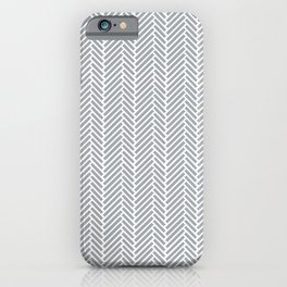 Herringbone Grey 2 iPhone Case