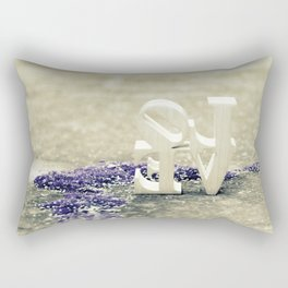 Backwards LOVE Rectangular Pillow