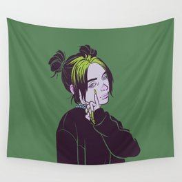 Billie's green hair Wall Tapestry
