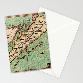 Map Of Sumatra 1657 Stationery Cards