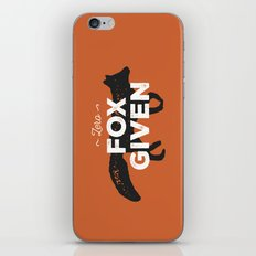 Zero Fox Given iPhone & iPod Skin