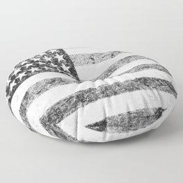 Grunge American Flag Floor Pillow