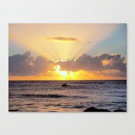 Golden Lining Canvas Print