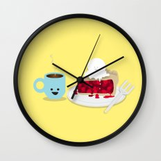 Coffee and Pie Wall Clock