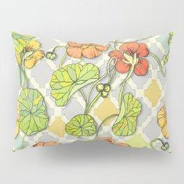 Climbing Nasturtiums in Lemon, Lime and Tangerine Pillow Sham