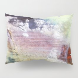 Painted wood abstract Pillow Sham