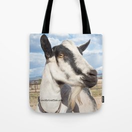 White and Black Nigerian Goat on a tote, reusable shopping bag Tote Bag