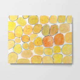 Cheerful orange Gathering Metal Print