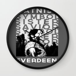 """Katniss """"Symbol Sister Savior"""" Everdeen Wall Clock"""