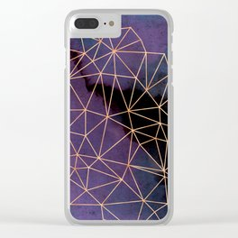 Ultraviolet Storm Clear iPhone Case