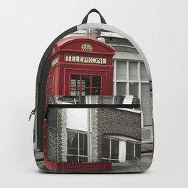 Red is everywhere london street england Backpack