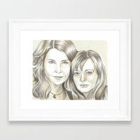 gilmore girls Framed Art Prints featuring Gilmore Girls by ShayMacMorran