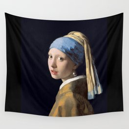 Girl With a Pearl Earring - Vermeer Wall Tapestry