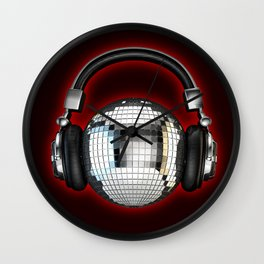 Headphone disco ball Wall Clock