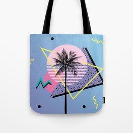 Memphis pattern 46 - 80s / 90s Retro / Palm Tree Tote Bag