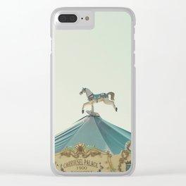 Carrousel Horse Clear iPhone Case