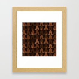 ABSTRACT TRIANGLES | espresso brown Framed Art Print