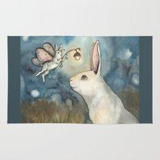 Night Bunny Fairy Rug