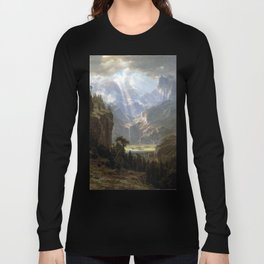 Albert Bierstadt Rocky Mountains, Lander's Peak Long Sleeve T-shirt