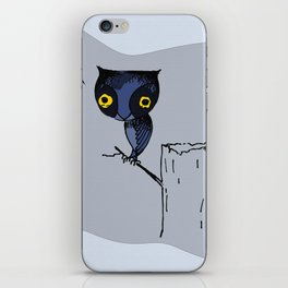 BLUE OWL iPhone Skin