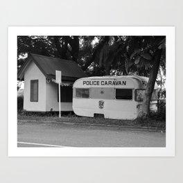 Local police caravan, Nadi, Fiji Art Print