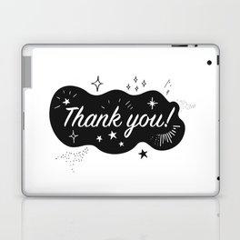 A sparkling Thank You Laptop & iPad Skin