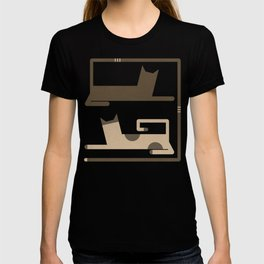 CATS IN LOVE (abstract animals) T-shirt