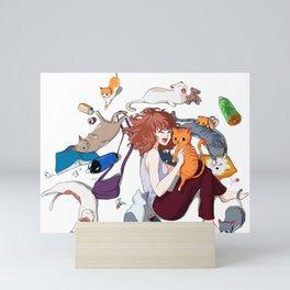Cat Lady Mini Art Print