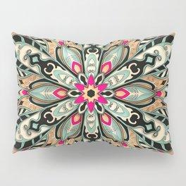 Tribal Geometric brown and green Mandala Pillow Sham