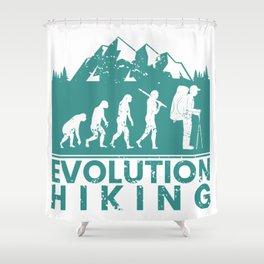 Hiking Evolution Shower Curtain