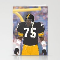 steelers Stationery Cards featuring Steelers - Joe Greene - 1978 (Vector Art) by Troy Arthur Graphics