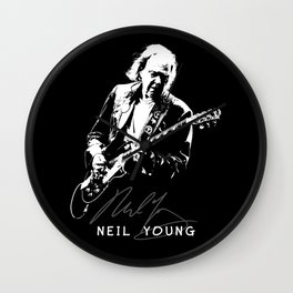 Neil Young-Rust never sleeps-Music,Folk,Rock Wall Clock