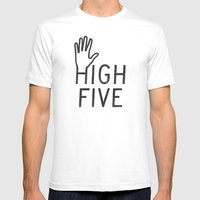 High Five Mens Fitted Tee SMALL White