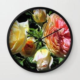 Antique Rose Wall Clock