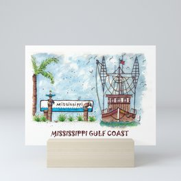Mississippi Gulf Coast Mini Art Print