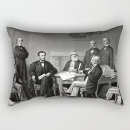 President Lincoln and His Cabinet Rectangular Pillow