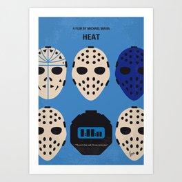 No621 My Heat minimal movie poster Art Print