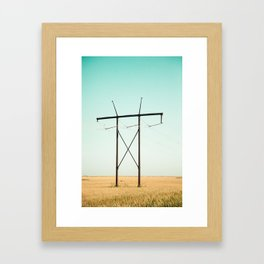 Don Quixote of La Mancha against the windmills Framed Art Print