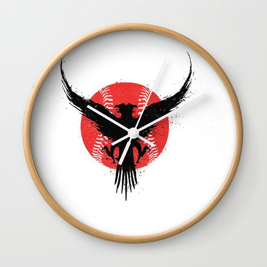 Eagle baseball Wall Clock