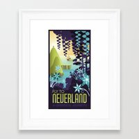 neverland Framed Art Prints featuring Neverland by Mario Graciotti
